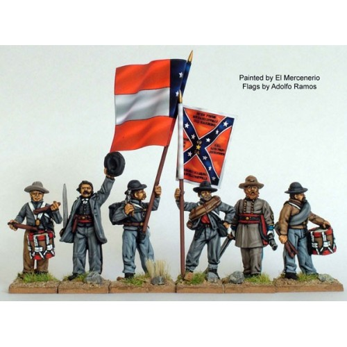 Confederate Infantry command standing