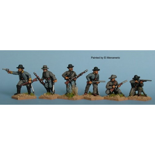 DisMoun.Confederate cavalry skirmishing