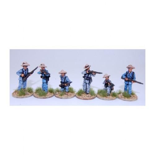 Infantería española disparando en campaña