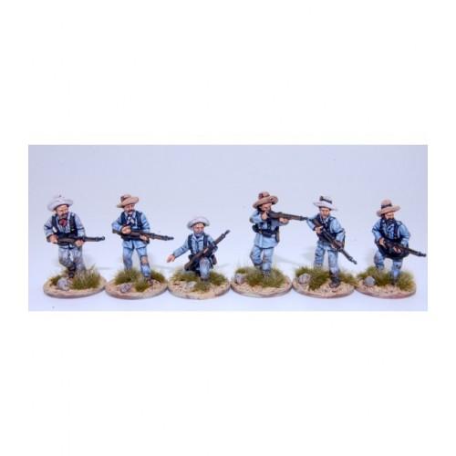 Infantería española escaramuzando en campaña