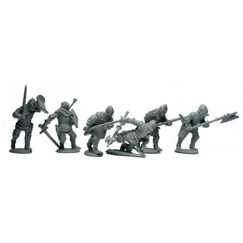 DisMoun.men at arms advancing into an arrow storm