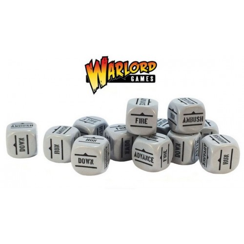 Bolt Action Orders Dice packs - Grey