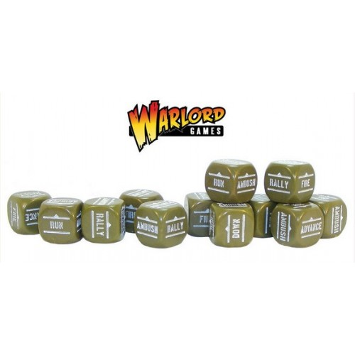 Bolt Action Orders Dice packs - Olive Drab