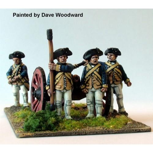 Continental Artillery firing 6 pounder