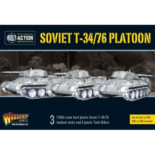 T34/76 Medium Tank Platoon (3) with Tank Riders