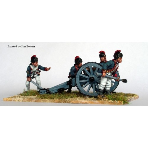 British Royal Artillery aiming 6 pounder
