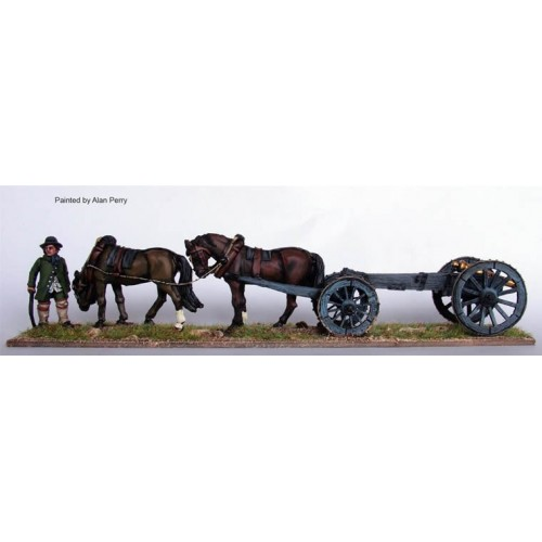 Two horse limber with 6pdr
