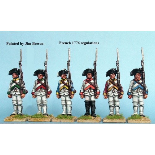 French Fusiliers standing
