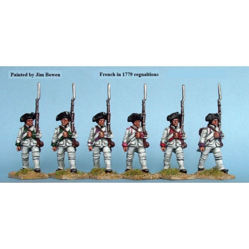 French Fusiliers march attack