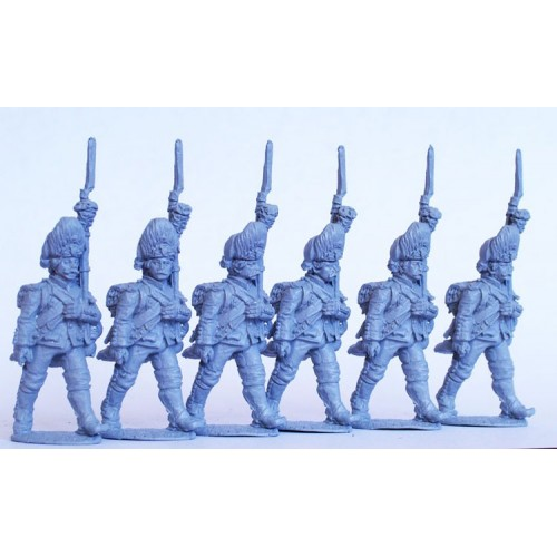 French Grenadiers march attack
