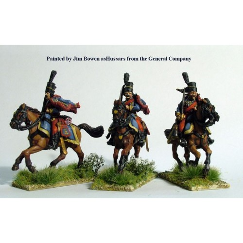 Hussars with lances galloping
