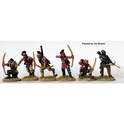 Warriors skirmishing with bows