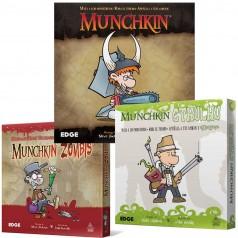 Serie Munchkin (Mazmorras, cthulhu, zombies, etc)